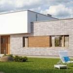 Fachadas de casas con jardin enfrente