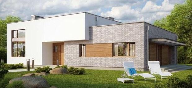Frentes de casas modernas con jardin for Casitas con jardin