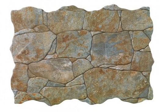 Cerámico simil piedra para exteriores color óxido