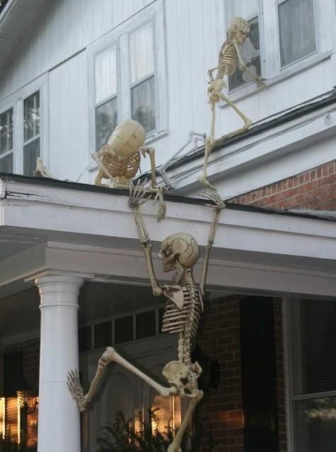 Esqueletos en halloween decoracion