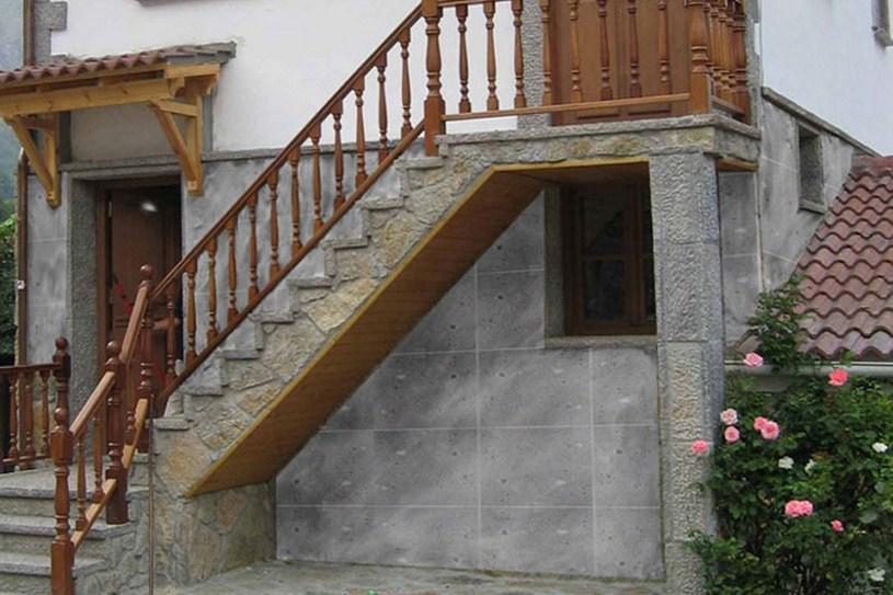 Fachadas con piedras rústicas