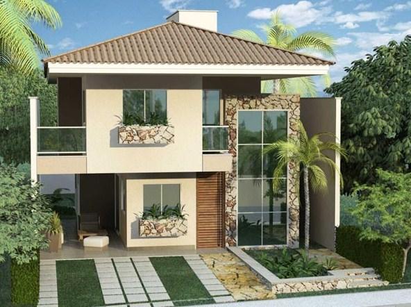 Fachadas de casas con terraza for Casas duplex modernas