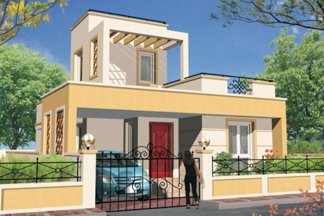 Fachadas de casas con rejas y portones for Diseno de casa sencilla