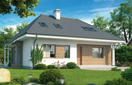 Fachadas de casas con techos a 4 aguas