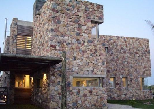 Fachadas de casas en piedra natural rustica