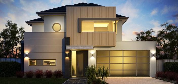 Fachadas de casas modernas con aberturas de aluminio