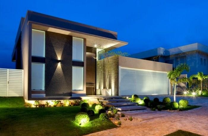 fachadas de casas modernas con escaleras