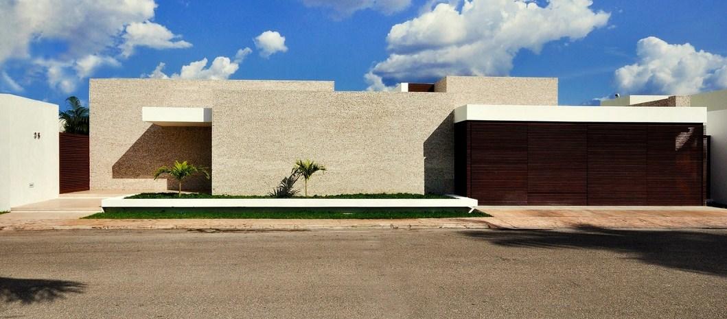 Fachadas de casas modernas con microcemento