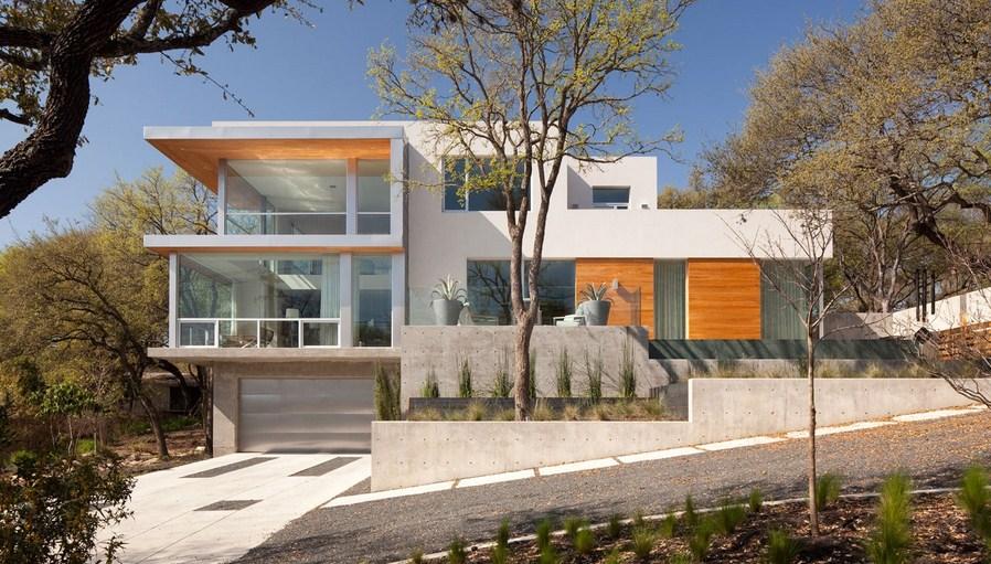 Fachadas de casas modernas con microtop