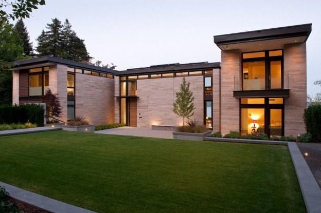 Fachadas de casas modernas con ventanas grandes