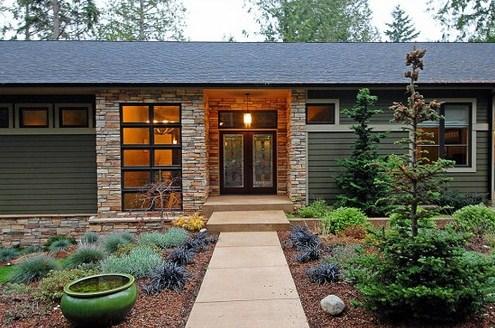 Fachadas de casas revestidas con lajas