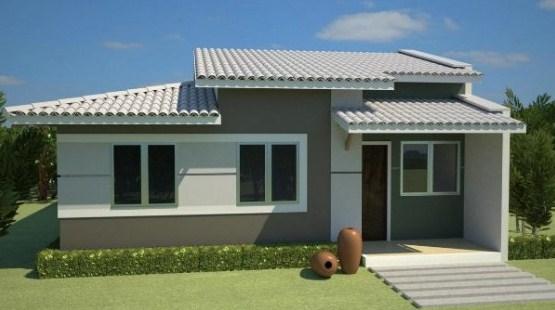 Fachadas de casas sencillas y modestas