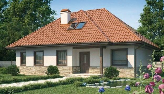Fachadas de casas sencillascon techos a 4 aguas