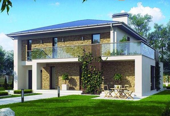 Fachadas de casas con terraza for Modelos de balcones modernos para casas