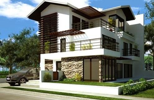 Fachadas de casas con techos a cuatro aguas for Techos de terrazas modernas