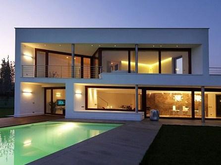 Fotos de fachadas modernas de casas con pileta