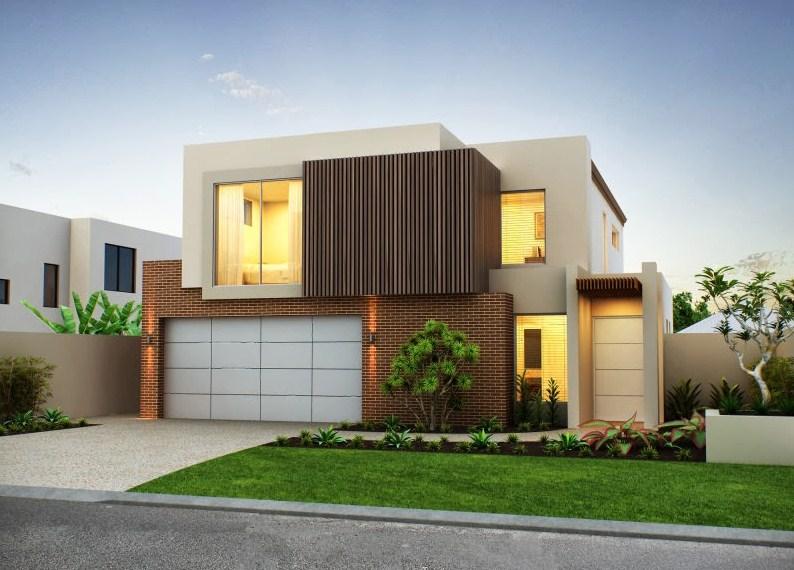Frentes de casas modernas con jardin for Fachadas frontales de casas