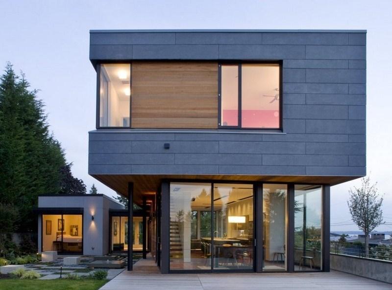 Frentes de casas con estilo insdustrial