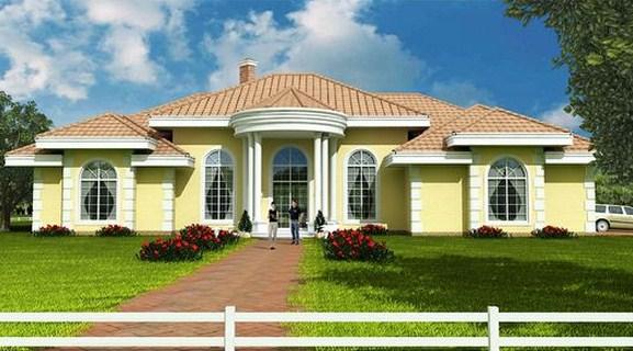 Frentes de casas con jardin frontal
