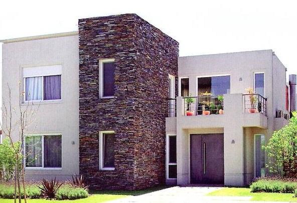 Frentes de casas en piedra laja natural
