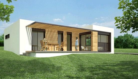 Fachadas de casas sencillas for Frentes de casas minimalistas