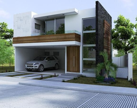 Dise os de frentes de casas for Diseno de jardines frentes de casas