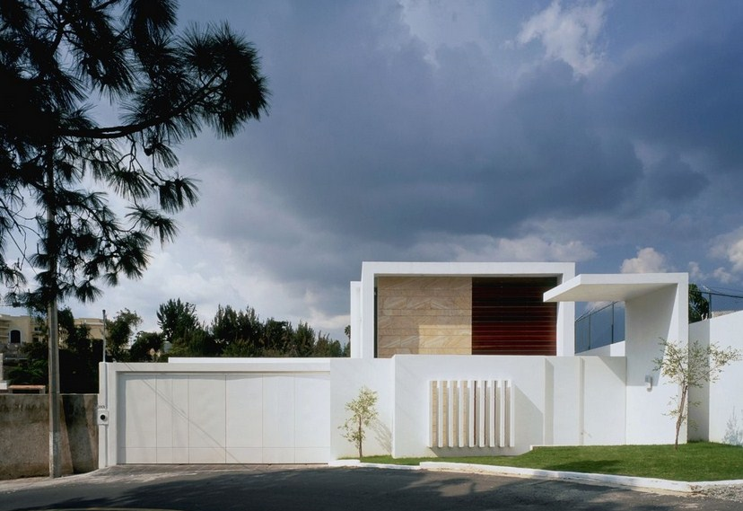 Modern fronts painted with white