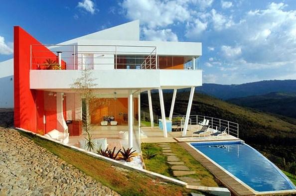 Lujosa casa en las montañas con pileta