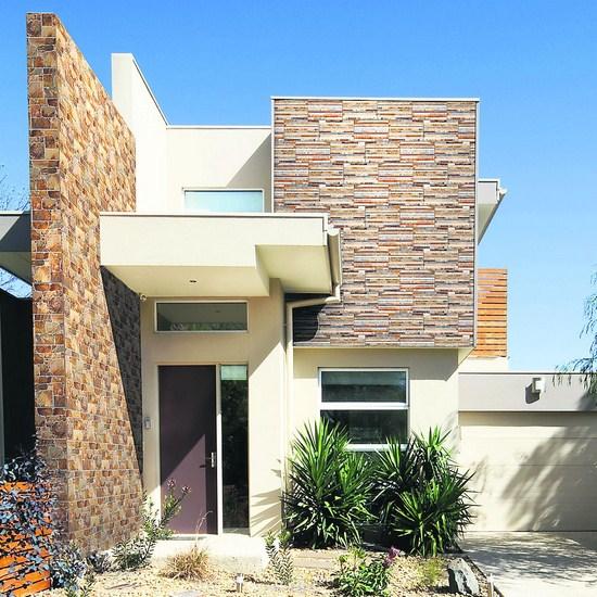 Fachadas de casas con piedra for Losetas para fachadas