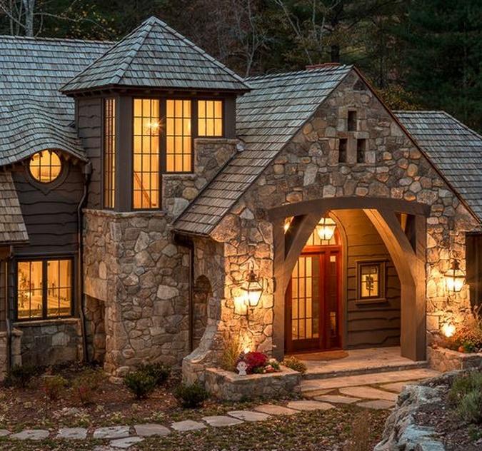 Fachadas de casas rusticas for Casas modernas acogedoras