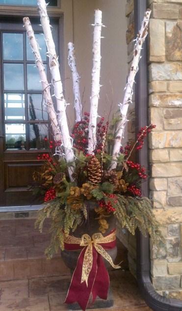 Adornos de navidad sencillos para fachadas
