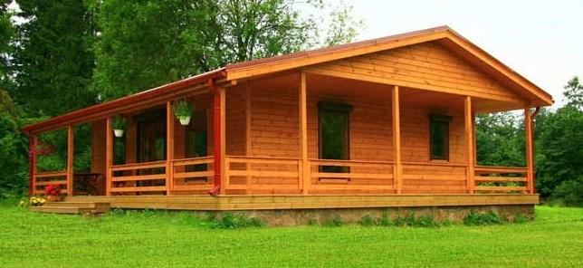 Bonitas casas de madera con galerias