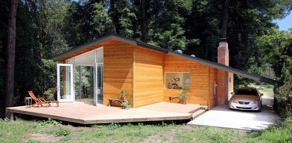 Casa familiar de madera