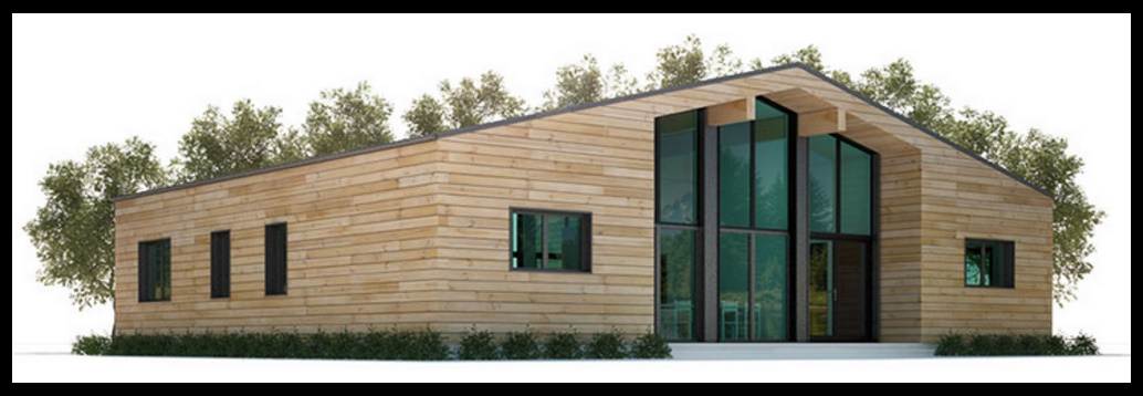 Casa revestida en madera