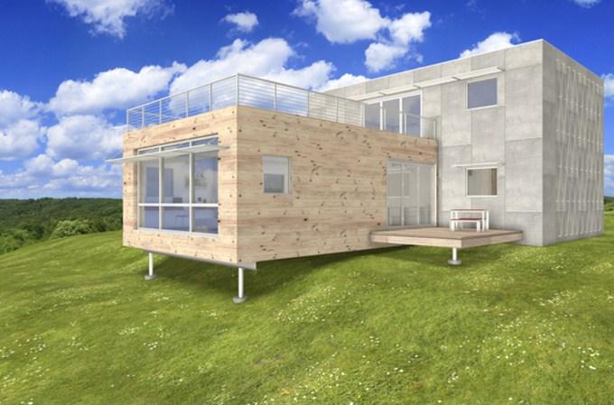Casas con bloques de cemento