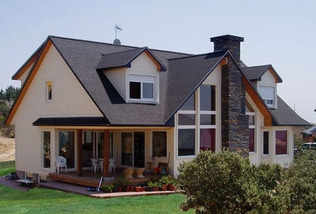 Casas con tejas asfalticas