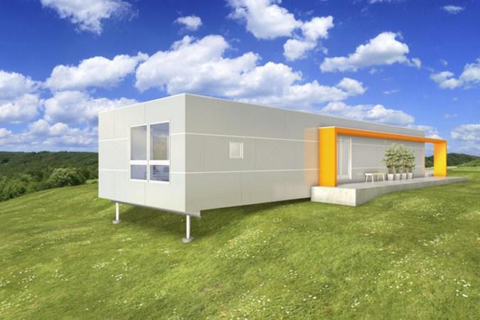 Fachadas de casas con bloques de cemento - Casas prefabricadas modernas hormigon ...