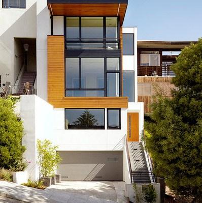 Colores de fachadas de casas for Pisos para exteriores modernos
