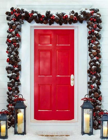 Decoracion simple y bonita para navidad