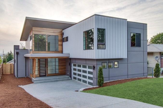 Estructuras de casas con bloques de cemento