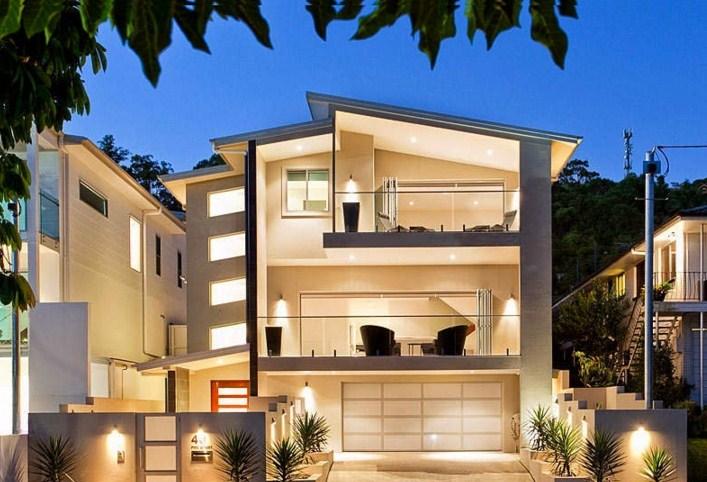 Fachada de casa particular moderna