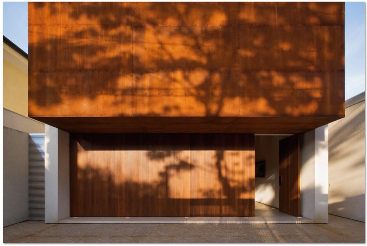 Fachadas acero corten for Acero corten perforado oxidado
