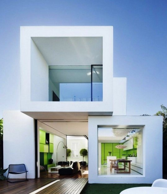Fachadas con forma cuadrada