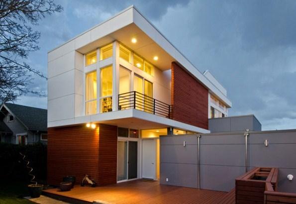Fachadas de casas bonitas vanguardistas