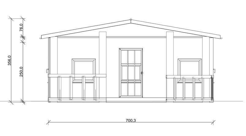 Fachadas de casas con medidas