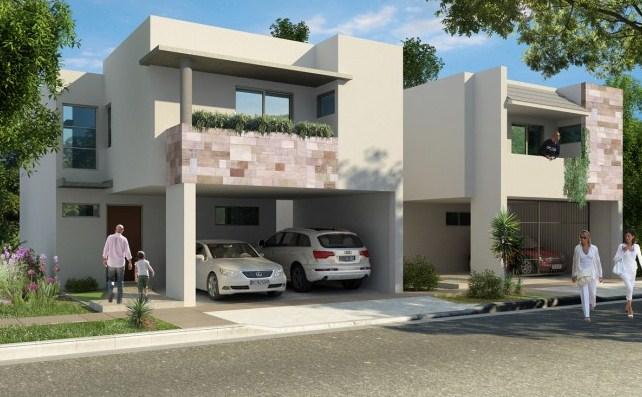 Fachadas de casas con muros de piedra for Piedras para fachadas minimalistas