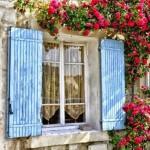 Fachadas con flores