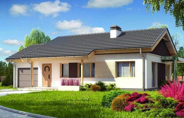 Fachadas de casas con tejas azules