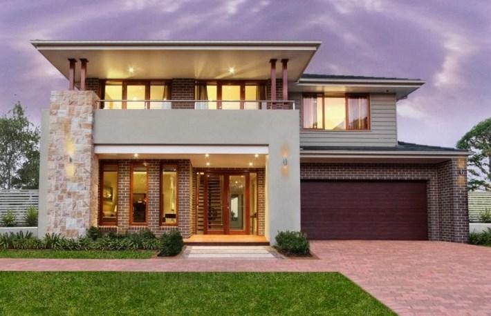 Fachadas de casas con terraza techada