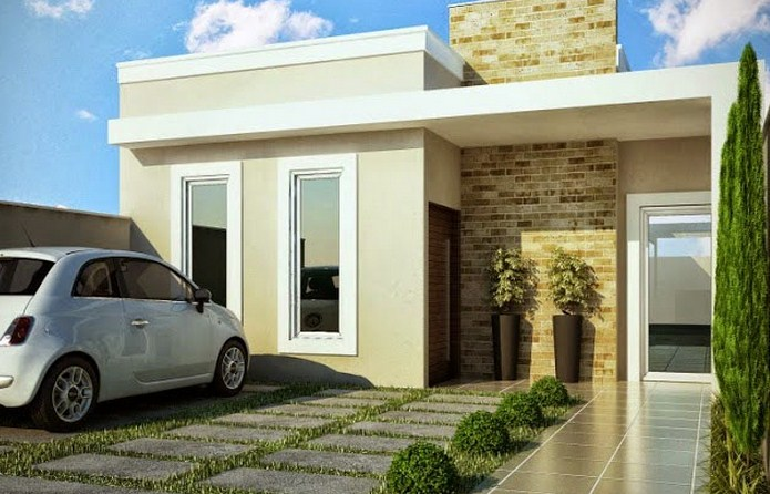 Fachadas de casas con ventanas fijas